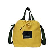 baratos Bolsas Tote-Mulheres Bolsas Tela de pintura Tote Letra Branco / Preto / Amarelo