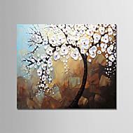 ハング塗装油絵 手描きの - 花柄 / 植物の 近代の キャンバス