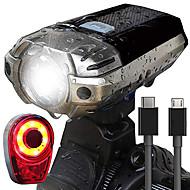 billige Sykkellykter og reflekser-Frontlys til sykkel LED Sykkellykter Sykling Vanntett, Bærbar, Enkel å bære Oppladbart Batteri 1000 lm Oppladbar Naturlig Hvit Sykling - HJ