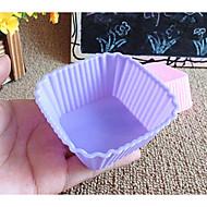 billige Bakeredskap-Bakeware verktøy silica Gel Kreativ Kjøkken Gadget Kake Rektangulær Cake Moulds 1pc
