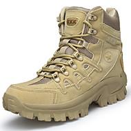 baratos Sapatos de Tamanho Pequeno-Homens Coturnos Lona / Sintéticos Inverno Vintage / Casual Botas Manter Quente Botas Cano Médio Preto / Bege
