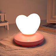 billige Lamper-1pc LOVE LED Night Light / Nursery Night Light Trefarget Usb For barn / Oppladbar / Mulighet for demping 5 V