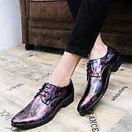 baratos Sapatos Masculinos-Homens Sapatos Confortáveis Couro Ecológico Outono Oxfords Roxo / Amarelo / Festas & Noite