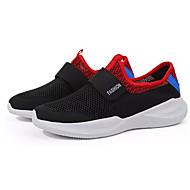 baratos Sapatos de Tamanho Pequeno-Homens Sapatos Confortáveis Com Transparência Outono Esportivo Tênis Corrida Não escorregar Estampa Colorida Cinzento / Azul / Preto / Vermelho