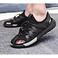 tanie Obuwie męskie-Męskie Komfortowe buty Skóra bydlęca Lato Sandały Czarny
