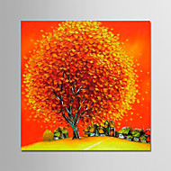 billiga Blom-/växtmålningar-Hang målad oljemålning HANDMÅLAD - Blommig / Botanisk Moderna Utan innerram / Valsad duk