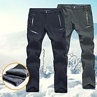 Heren Skibroek waterdicht Houd Warm Anatomisch ontwerp Skiën Kamperen&Wandelen Snowboarden Polyester Spandex Wol flanel Warme broek Skikleding / Winter