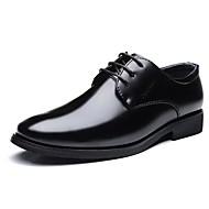 baratos Sapatos de Tamanho Pequeno-Homens Sapatos Confortáveis Couro Ecológico Outono Oxfords Preto / Festas & Noite