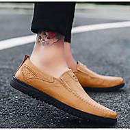 baratos Sapatos Masculinos-Homens Sapatos Confortáveis Microfibra Primavera & Outono Mocassins e Slip-Ons Preto / Castanho Claro / Castanho Escuro