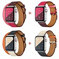 billiga Mobil cases & Skärmskydd-Klockarmband för Apple Watch Series 4/3/2/1 Apple Läderloop Äkta Läder Handledsrem