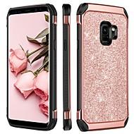 billiga Mobil cases & Skärmskydd-BENTOBEN fodral Till Samsung Galaxy S9 Plus / S9 Stötsäker / Plätering / Glittrig Skal Glittrig Hårt TPU / PC för S9 / S9 Plus / S8