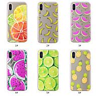 billiga Mobil cases & Skärmskydd-fodral Till Apple iPhone XS / iPhone XS Max Mönster Skal Frukt Mjukt TPU för iPhone XS / iPhone XR / iPhone XS Max