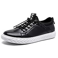 tanie Obuwie męskie-Męskie Komfortowe buty PU Jesień Casual Adidasy Antypoślizgowe Czarny / czarny / biały