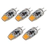 baratos Luzes LED de Dois Pinos-SENCART 5pçs 2 W 180 lm G4 Luminárias de LED  Duplo-Pin T 1 Contas LED COB Decorativa Branco Quente / Branco 12 V