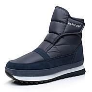 baratos Sapatos Masculinos-Homens Botas de Neve Lona / Sintéticos Inverno Esportivo / Casual Botas Aventura Manter Quente Botas Cano Médio Preto / Cinzento / Azul Marinho