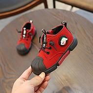baratos Sapatos de Menina-Para Meninos / Para Meninas Sapatos Couro Ecológico Primavera & Outono / Primavera Verão Conforto / Sapatos para Daminhas de Honra Botas Caminhada Cadarço / Combinação / LED para Infantil Preto
