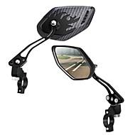 billige Sykkeltilbehør-Sykkel Speile / Handlerbar Bike Mirror Sykling, Justerbare / Uttrekkbar, Speil Veisykling / Fritidssykling / Sykling / Sykkel Aluminiumslegering / ABS Svart - 2 pcs