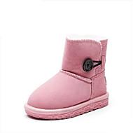 baratos Sapatos de Menino-Para Meninos / Para Meninas Sapatos Pele Inverno Botas de Neve Botas Botão para Infantil Café / Marron / Rosa claro / Botas Cano Médio
