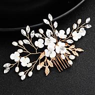 Slitina Hair Stick s Umělé perly / Křišťály Jeden díl Svatební / Zvláštní příležitosti Přílba