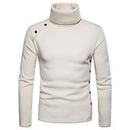 mænds langærmet sweatshirt - solid farvet turtleneck