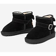 baratos Sapatos de Menino-Para Meninos / Para Meninas Sapatos Camurça Inverno Botas de Neve Botas Presilha para Infantil / Bébé Preto / Vermelho / Khaki