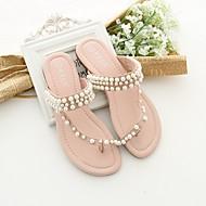 baratos Sapatos de Menino-Para Meninos / Para Meninas Sapatos Couro Sintético Primavera Conforto Chinelos e flip-flops para Infantil / Adolescente Branco / Rosa claro