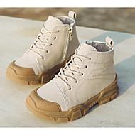 cheap Kids' Boots-Boys' / Girls' Shoes Pigskin Winter Combat Boots Boots Zipper for Kids Black / Beige / Camel