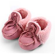 baratos Sapatos de Menino-Para Meninos / Para Meninas Sapatos Algodão Inverno Primeiros Passos / Forro de peles Tênis Cadarço para Bebê Cinzento / Fúcsia / Marron