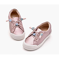 baratos Sapatos de Menina-Para Meninas Sapatos Couro Sintético Primavera & Outono Conforto Tênis Elástico para Infantil Branco / Rosa claro