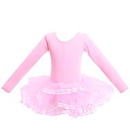 cheap -Ballet Leotards Women's / Girls' Training / Performance Elastane / Lycra Criss Cross / Tiered Long Sleeve Leotard / Onesie
