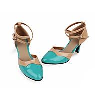 billige Moderne sko-Dame Moderne sko Lakklær Høye hæler Kubansk hæl Dansesko Rød / Grønn