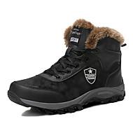 billige Herresko-Herre Snestøvler Ruskind Vinter Afslappet Støvler Hold Varm Ankelstøvler Sort