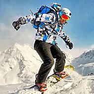 billiga Vintersport-Wild Snow Herr Skidjacka och -byxor Vindtät, Vattentät, Varm Skidåkning / Vintersport Klädesset Skidkläder / Andningsfunktion / Andningsfunktion