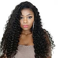 Remy kosa Ljudska kosa Lace Front Perika Stražnji dio stil Brazilska kosa Wavy Duboko Val Perika 250% Gustoća kose s dječjom kosom Žene Gust Prirodna linija za kosu Afro-američka perika Natural Žene