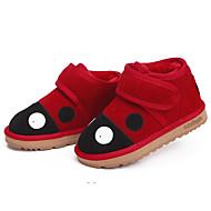 tanie Obuwie dziewczęce-Dla dziewczynek Obuwie Zamsz Zima Śniegowce Botki Tasiemka na Dzieci Czerwony