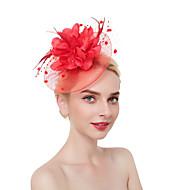Pentru femei Kentucky Derby Mată Flori Plasă Vintage Elegant,Material Textil / Nuntă / In / Toate Sezoanele
