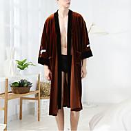 Men's Deep V Uniforms & Cheongsams Pajamas Solid Colored