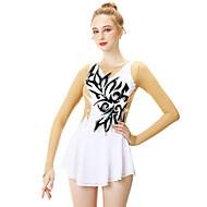 Φόρεμα για φιγούρες πατινάζ Γυναικεία / Κοριτσίστικα Patinaj Φορέματα Λευκό Patchwork Spandex, Ελαστικό Νήμα, Δαντέλα Υψηλή Ελαστικότητα Επαγγελματική / Ανταγωνισμός Ενδυμασία πατινάζ Χειροποίητο