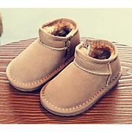 baratos Sapatos de Menino-Para Meninos / Para Meninas Sapatos Pele Inverno Botas de Neve Botas Ziper para Infantil / Bébé Cinzento / Rosa claro / Khaki / Botas Curtas / Ankle