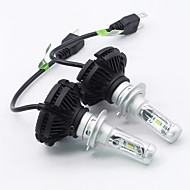 cheap Car Accessories Sale Promotion with NAIAS-SO.K 2pcs H7 / H4 / H3 Car Light Bulbs 25 W Integrated LED 6000 lm 6 LED Fog Light / Headlamp For All years