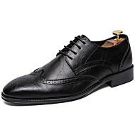 baratos Sapatos Masculinos-Homens Sapatos formais Sintéticos Primavera & Outono Casual / Formais Oxfords Não escorregar Preto / Marron