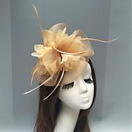 Peří / Síť Fascinátory / Vlasové ozdoby s Peří / Květiny 1ks Svatební / Zvláštní příležitosti Přílba