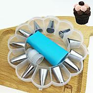 billige Bakeredskap-Bakeware verktøy Rustfritt Stål Kake / For kjøkkenutstyr Dessert dekoratører / Dessertverktøy 14pcs