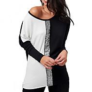 Tee-shirt Femme, Bloc de Couleur Chic de Rue Gris Foncé XL