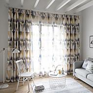 billige Gardiner ogdraperinger-gardiner gardiner To paneler Egendefinert Størrelse kaffe / Soverom