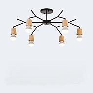 billige Takbelysning og vifter-QINGMING® 6-Light Lysekroner Nedlys Malte Finishes Tre Metall Mini Stil 110-120V / 220-240V