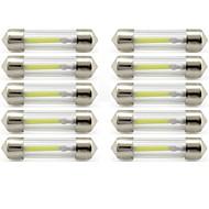10pcs 41mm Araba Ampul 1 W COB 85 lm 1 LED İç Işıklar / dış Aydınlatma Uyumluluk Uniwersalny Uniwersalny / KX5 Evrensel