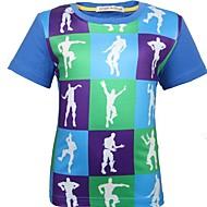 Bambino (1-4 anni) Da ragazzo Essenziale Monocolore Manica corta Poliestere T-shirt Blu