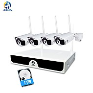 cheap Wireless CCTV System-JOOAN® Wireless CCTV System 4 Channel 1080p Video Recorder CCTV NVR 4 x 2.0MP WiFi Outdoor Network IP Cameras Good Night Vision With 1TB HDD