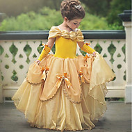 cheap -Princess Belle Vintage Costume Girls' Dress Party Costume Purple / Yellow / Pink Vintage Cosplay Polyester Sleeveless T-shirt Sleeve